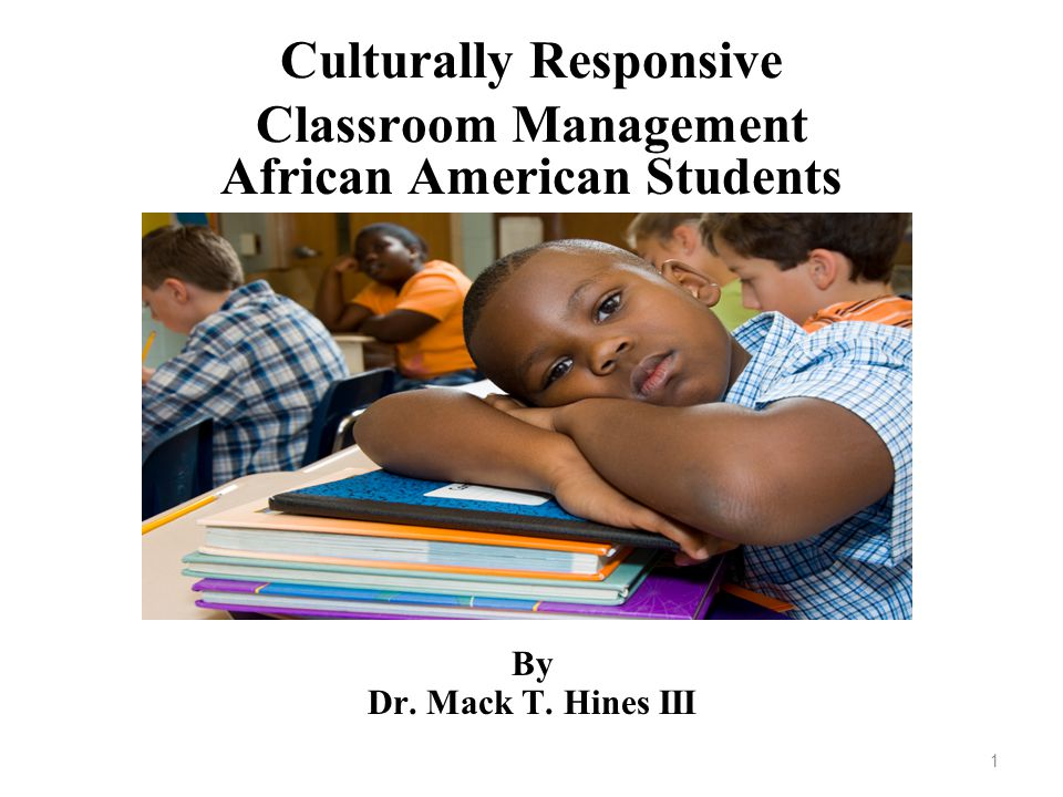 Culturally Responsive Classroom Management