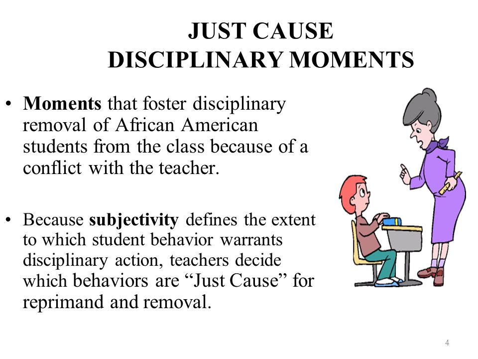 JUST CAUSE DISCIPLINARY MOMENTS