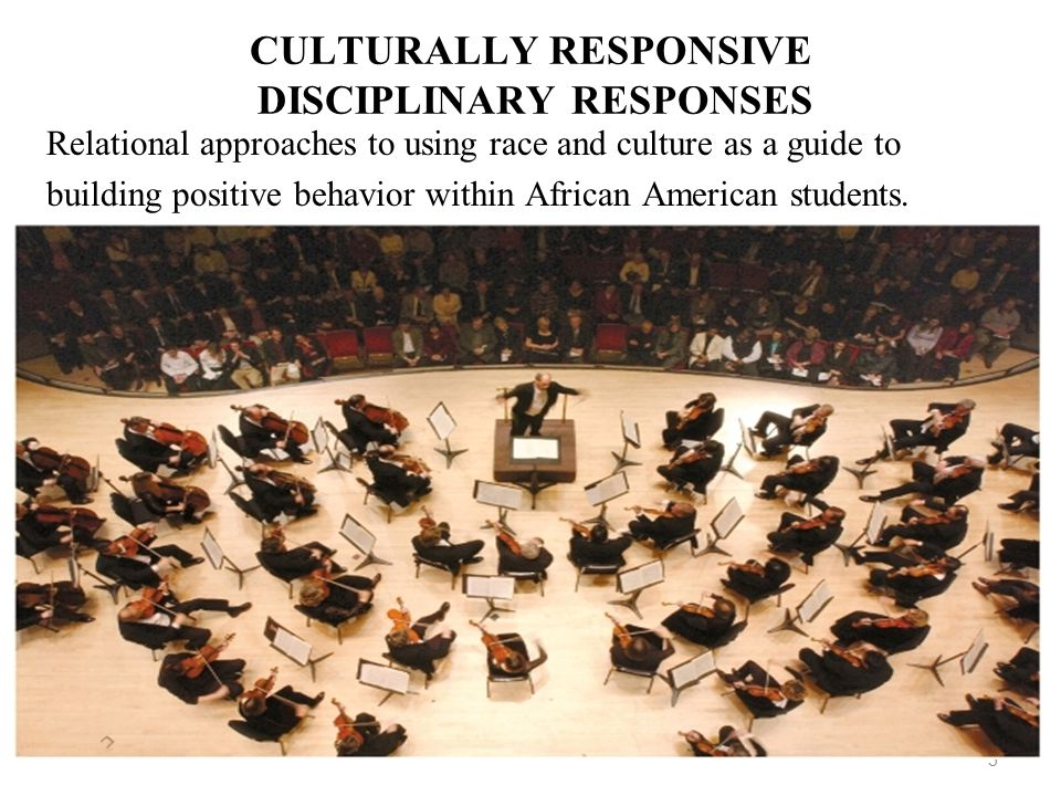 CULTURALLY RESPONSIVE DISCIPLINARY RESPONSES