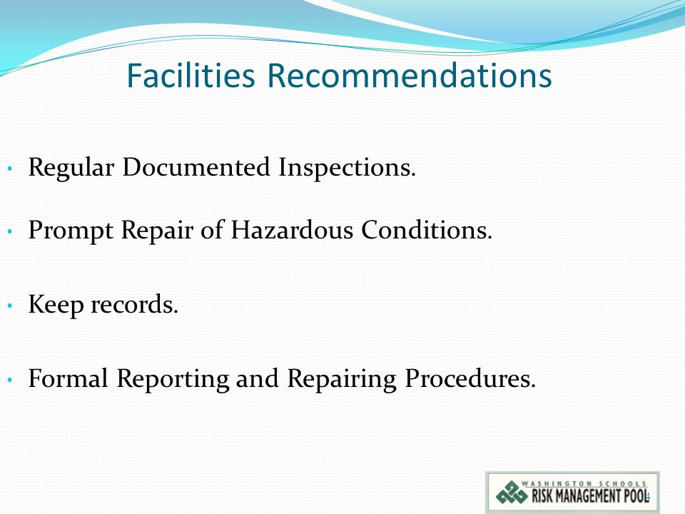 Facilities Recommendations