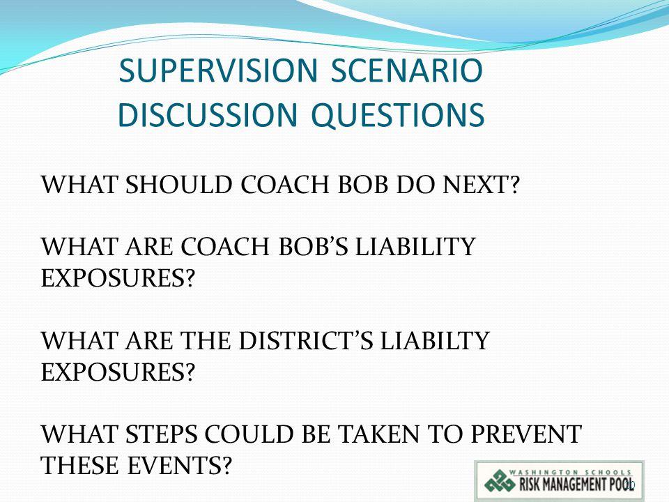 SUPERVISION SCENARIO DISCUSSION QUESTIONS