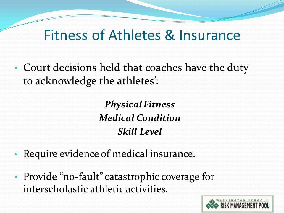 Fitness of Athletes & Insurance