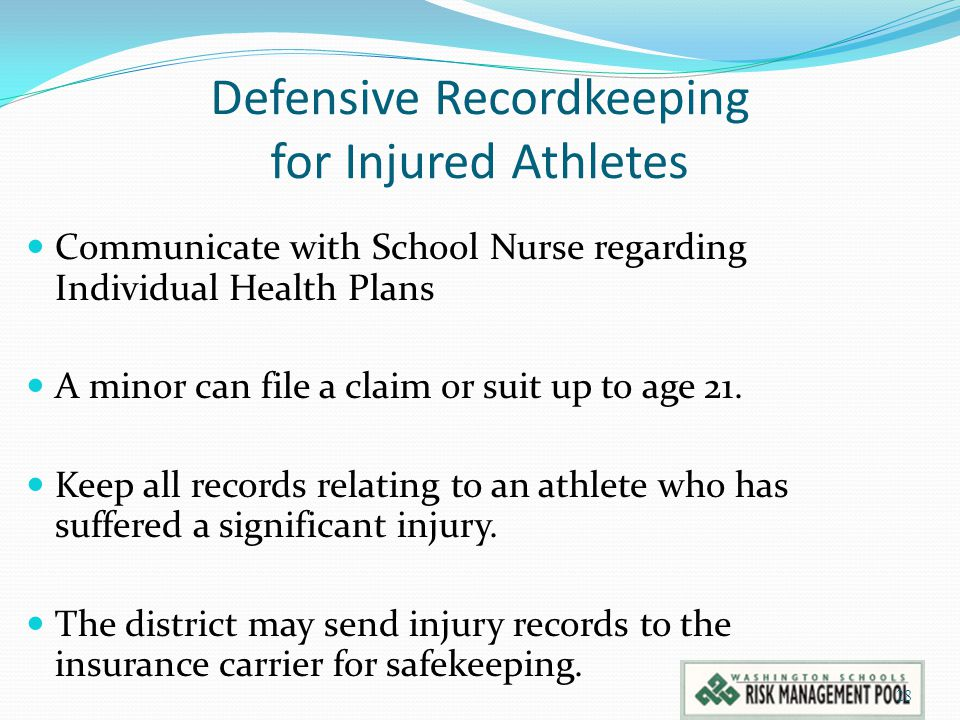 Defensive Recordkeeping for Injured Athletes