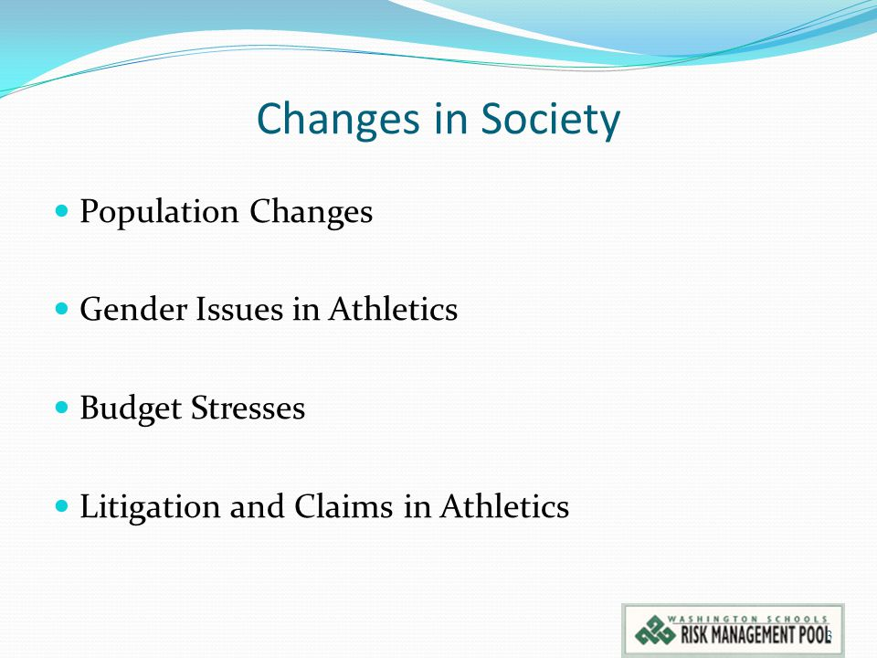 Changes in Society Population Changes Gender Issues in Athletics