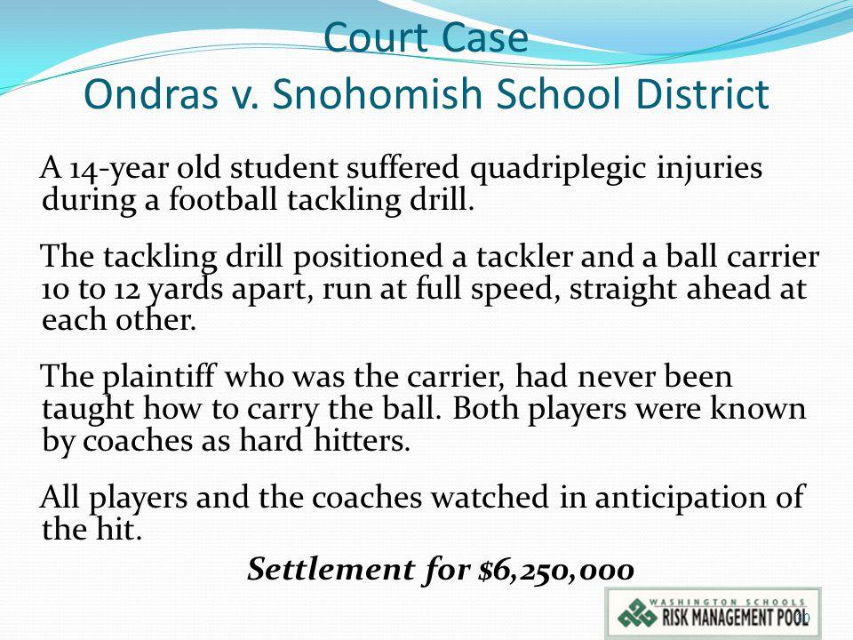 Court Case Ondras v. Snohomish School District