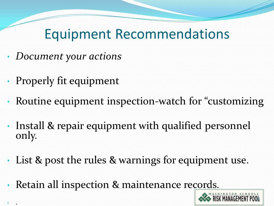 Equipment Recommendations