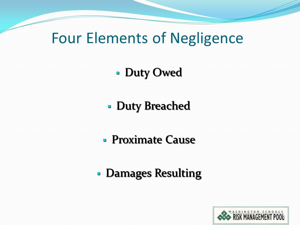 Four Elements of Negligence