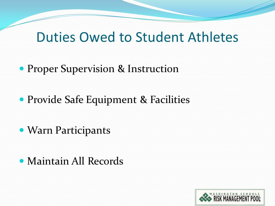 Duties Owed to Student Athletes