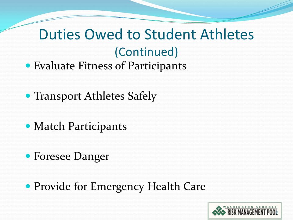 Duties Owed to Student Athletes (Continued)