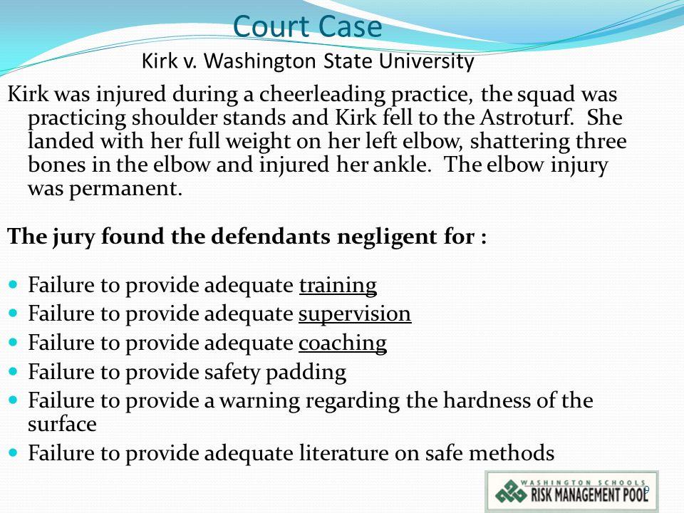 Court Case Kirk v. Washington State University