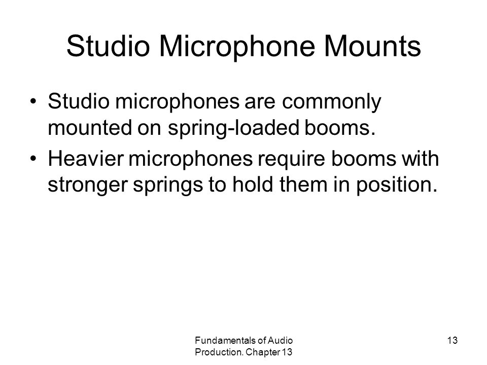 Studio Microphone Mounts