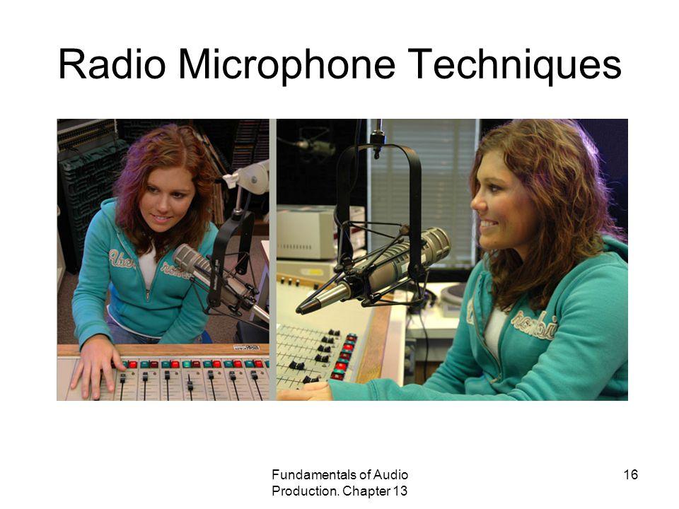 Radio Microphone Techniques