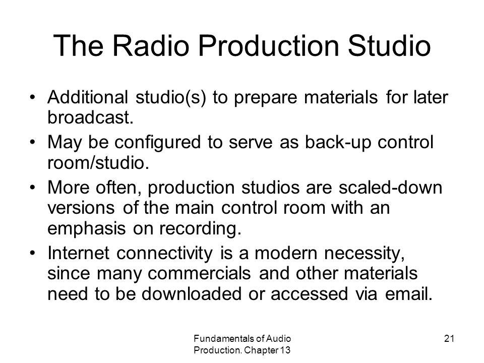 The Radio Production Studio