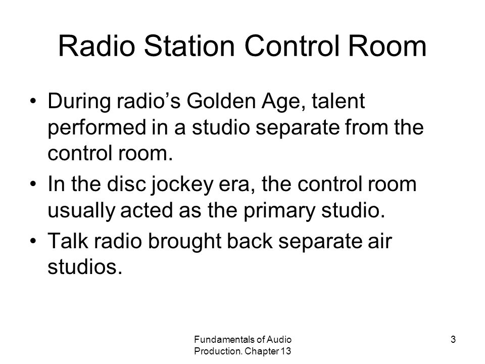 Radio Station Control Room