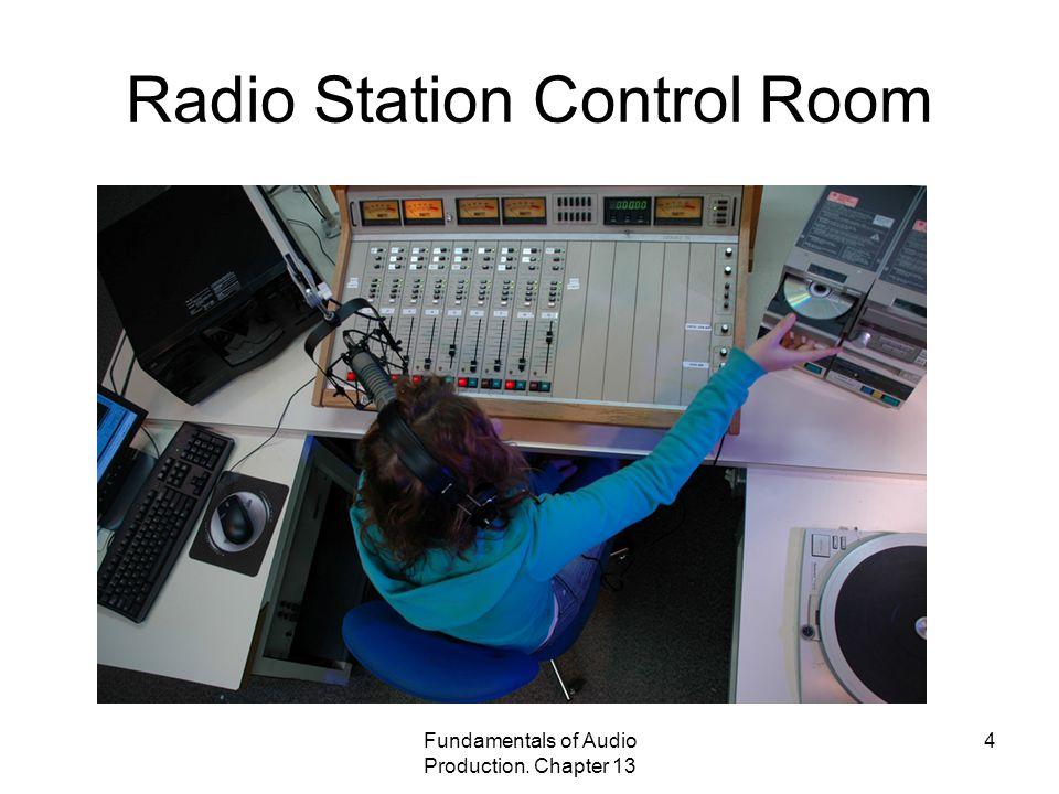 Radio Station Control Room