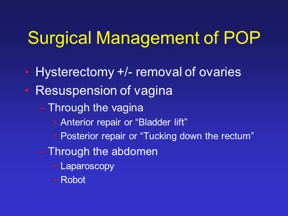 Surgical Management of POP