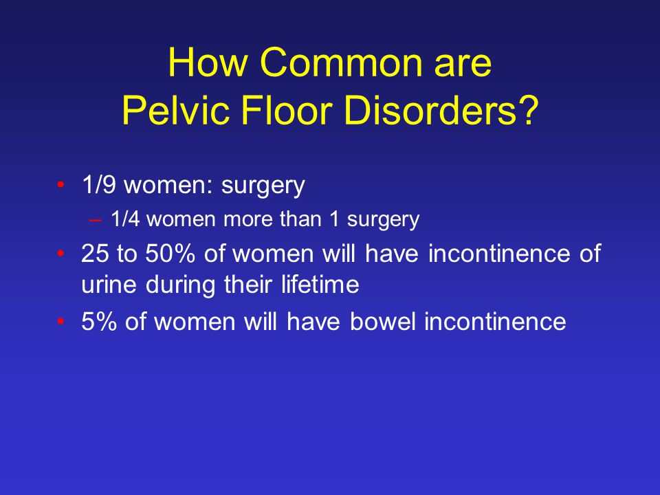How Common are Pelvic Floor Disorders