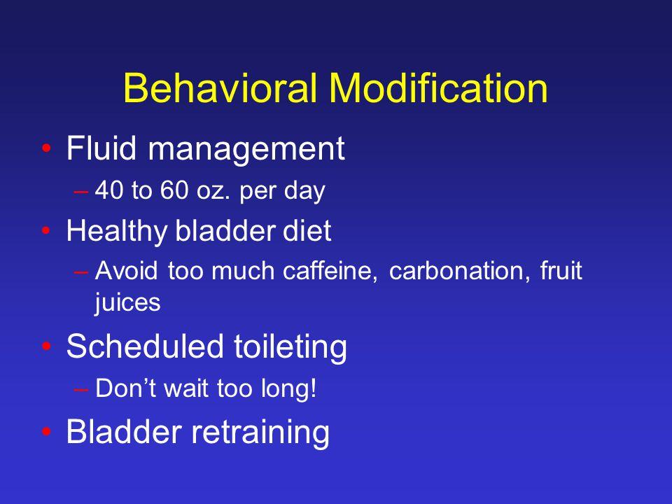 Behavioral Modification