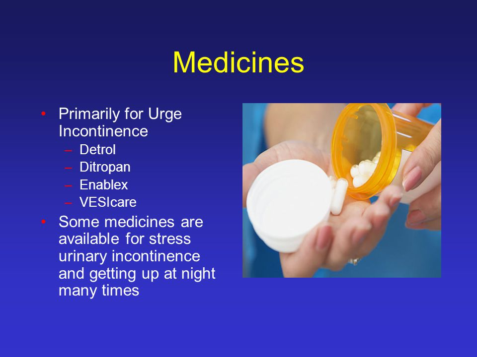 Medicines Primarily for Urge Incontinence