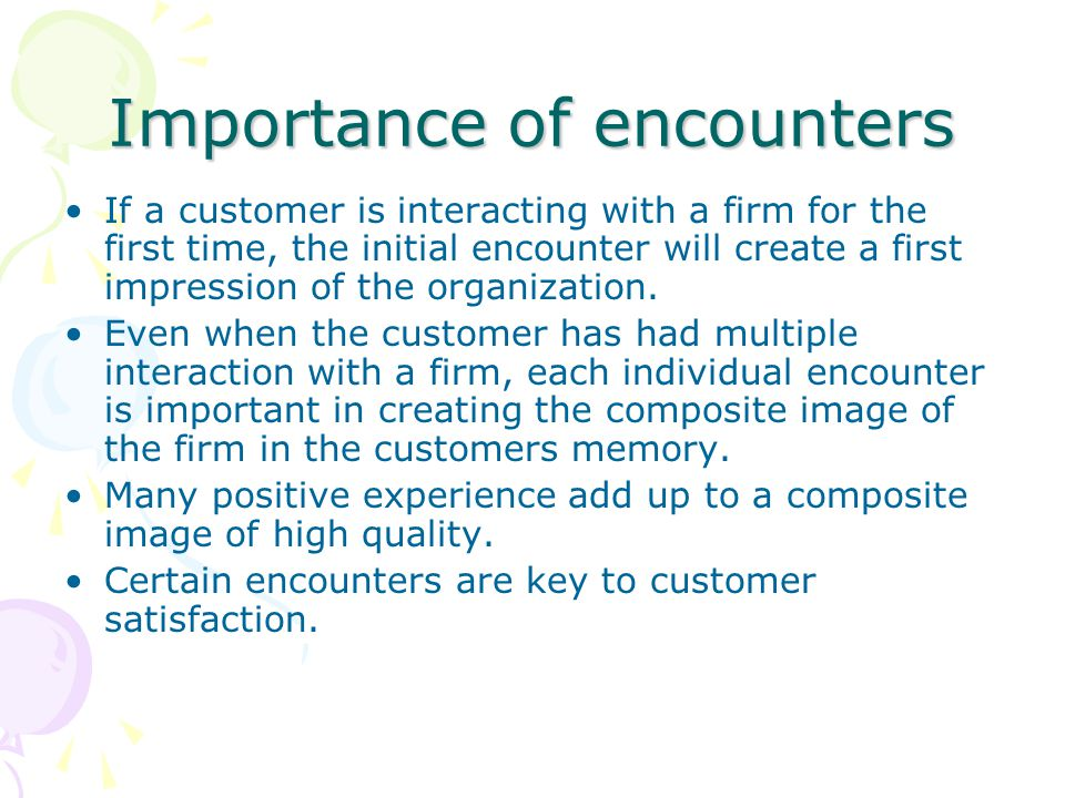 Importance of encounters
