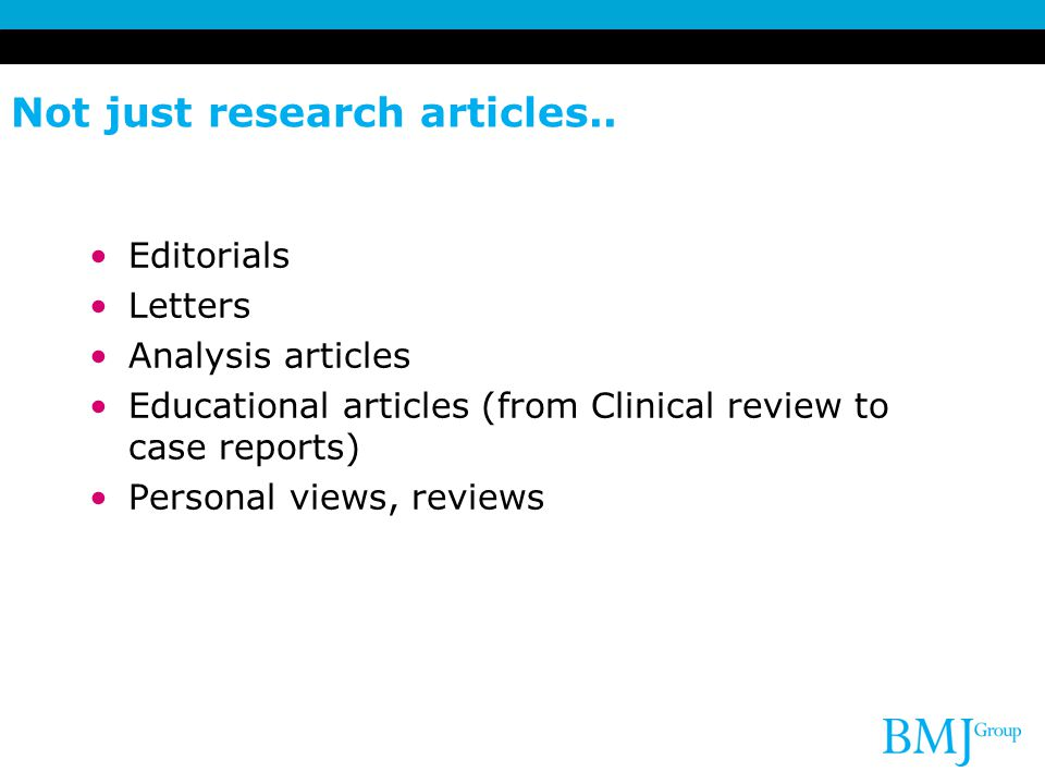 Not just research articles..