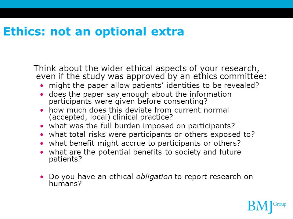 Ethics: not an optional extra