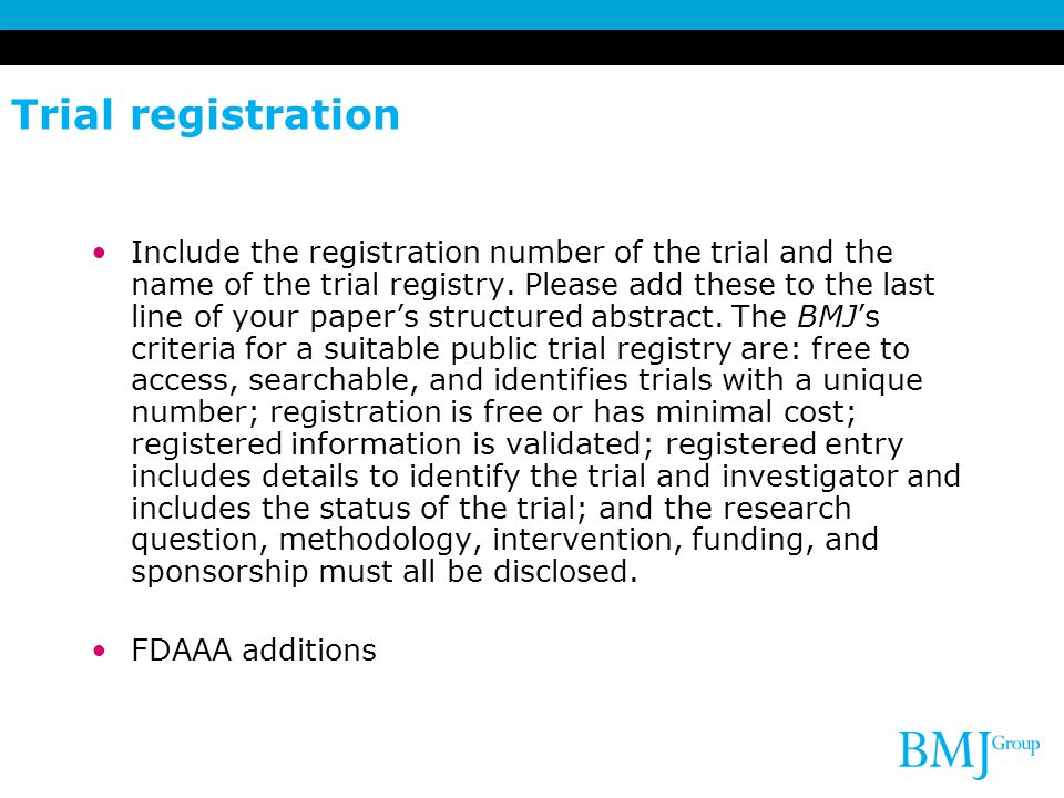 Trial registration