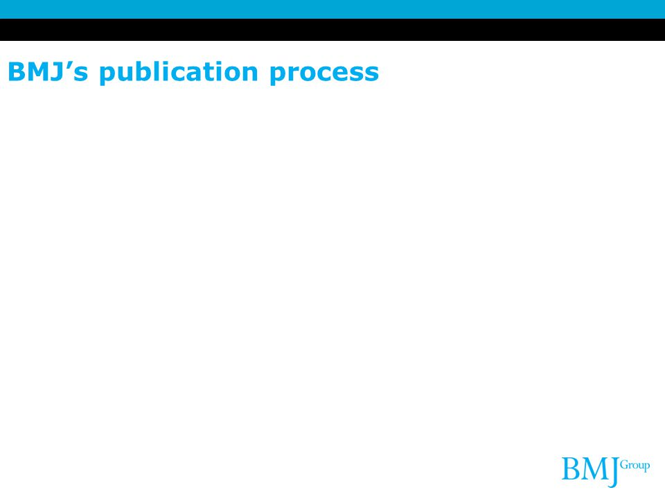 BMJ's publication process