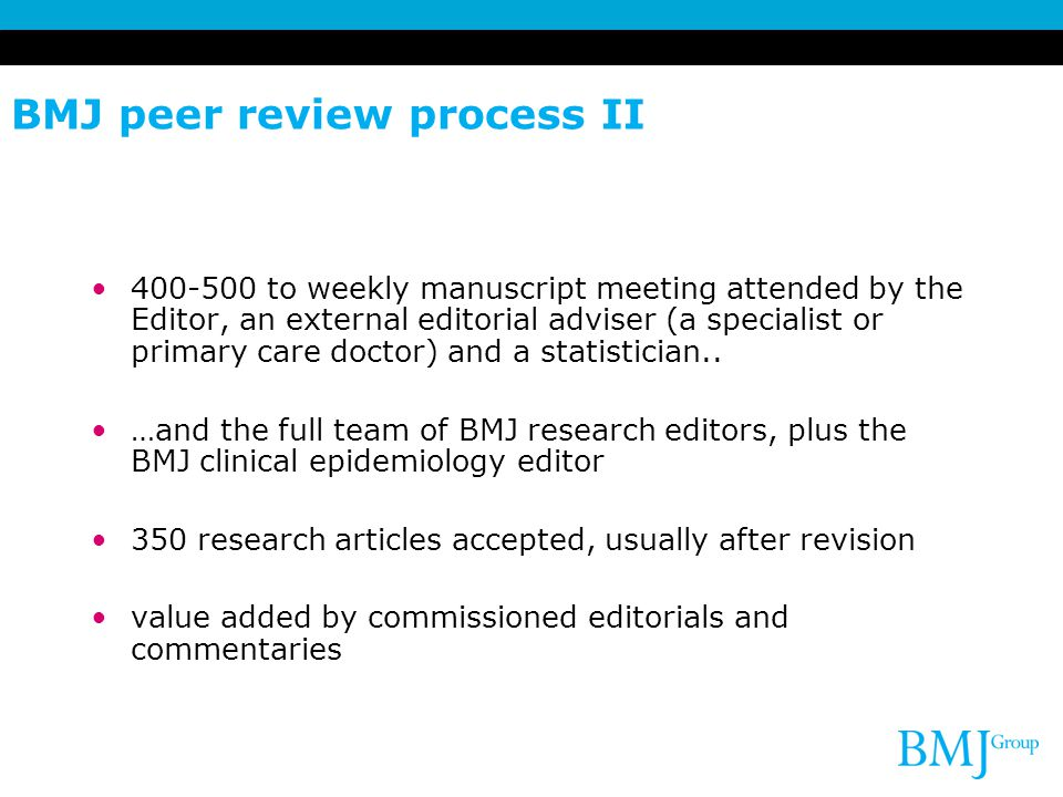 BMJ peer review process II