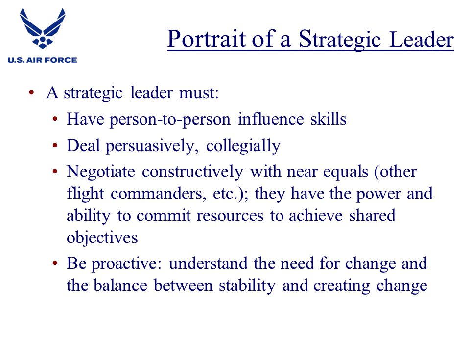 Portrait of a Strategic Leader