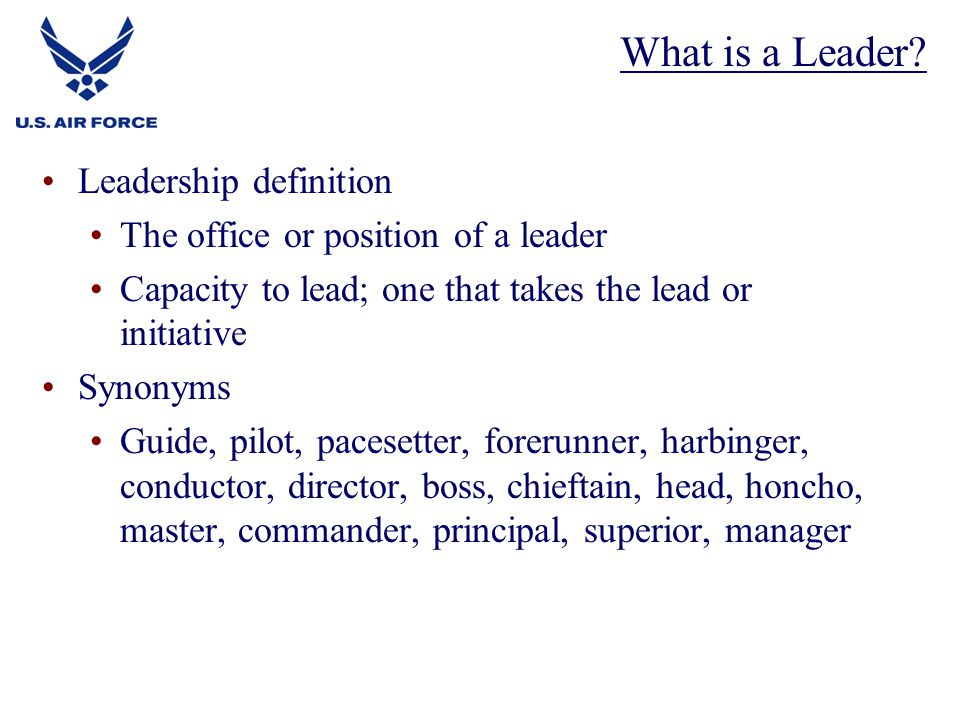 What is a Leader Leadership definition