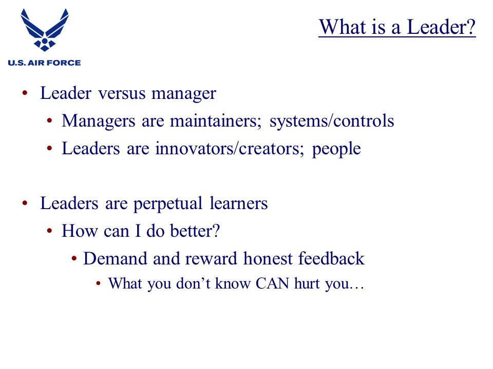 What is a Leader Leader versus manager