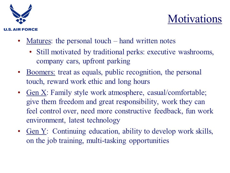 Motivations Matures: the personal touch – hand written notes