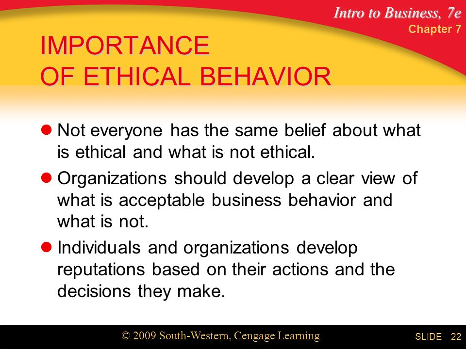 the importance of ethics in management The critical role of ethics and culture in business globalization  the importance of ethics  change management, and process improvement .