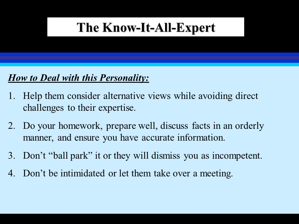 The Know-It-All-Expert