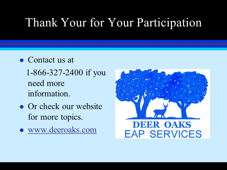 Thank Your for Your Participation
