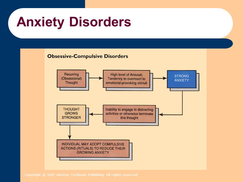 Anxiety Disorders Copyright © 2007 Horizon Textbook Publishing All rights reserved 2 2