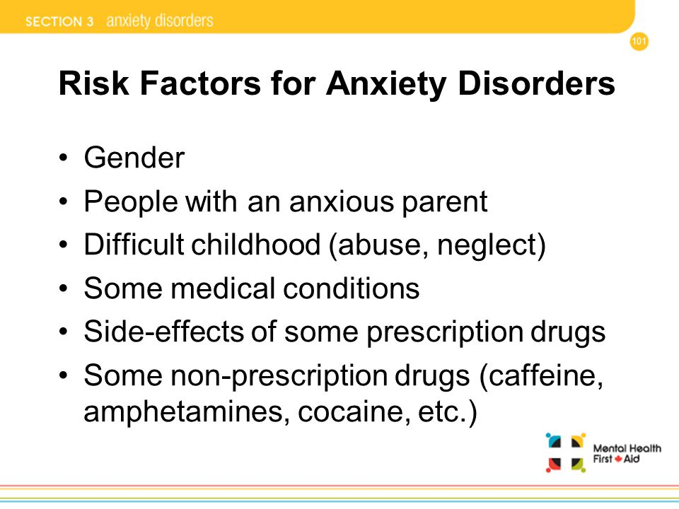 Risk Factors for Anxiety Disorders