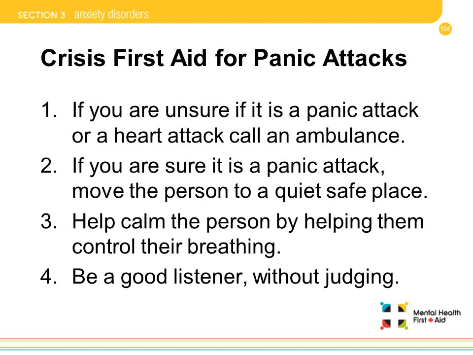 Crisis First Aid for Panic Attacks