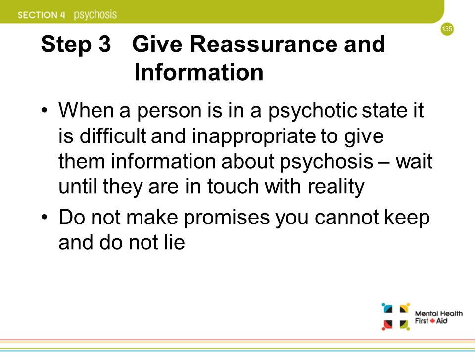 Step 3 Give Reassurance and Information