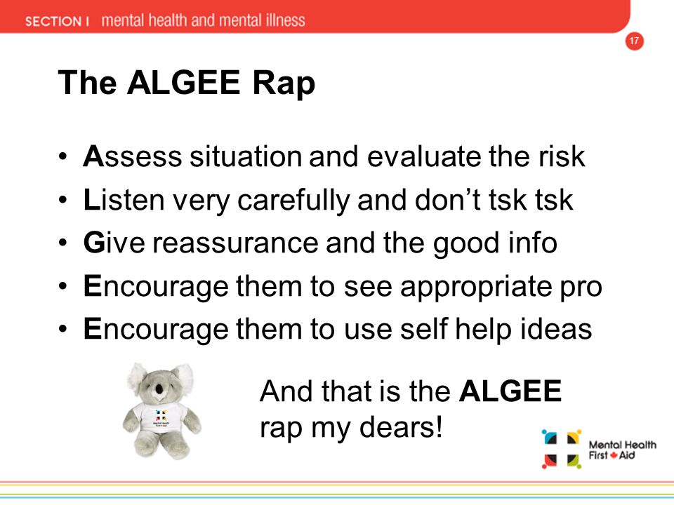 The ALGEE Rap Assess situation and evaluate the risk
