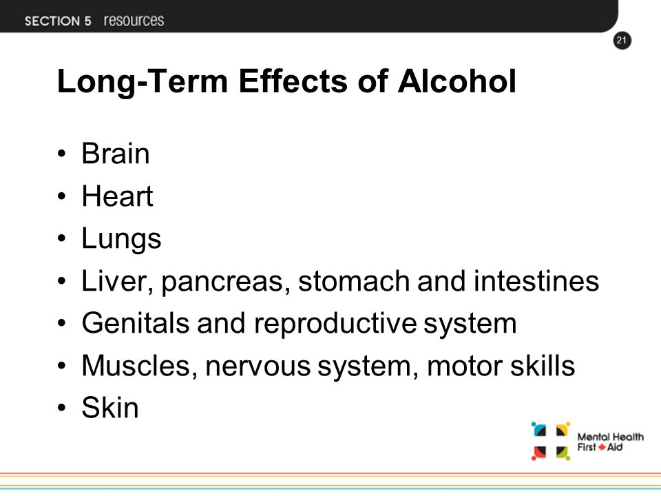 Long-Term Effects of Alcohol
