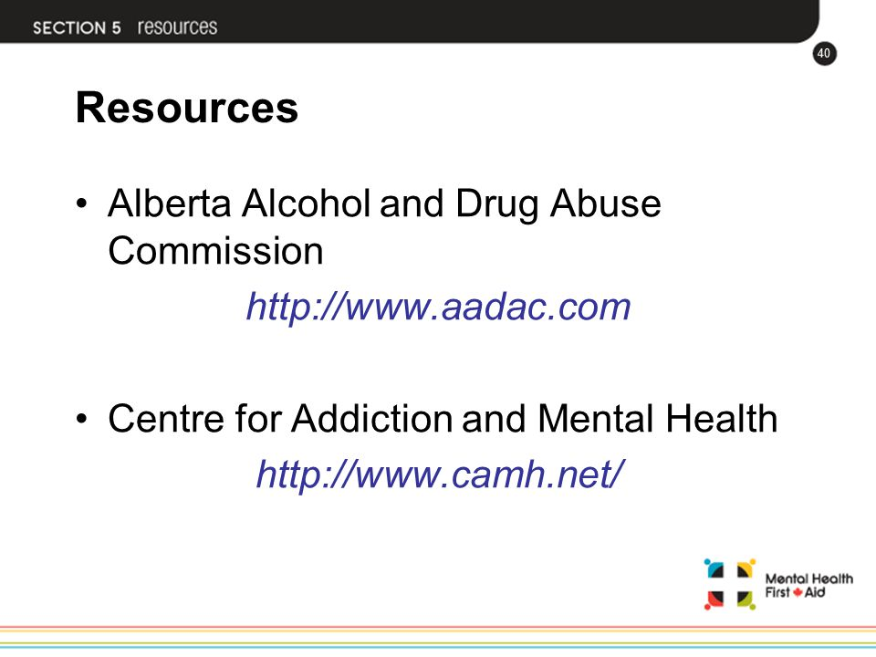 Resources Alberta Alcohol and Drug Abuse Commission