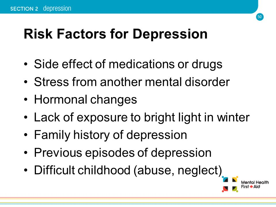 Risk Factors for Depression