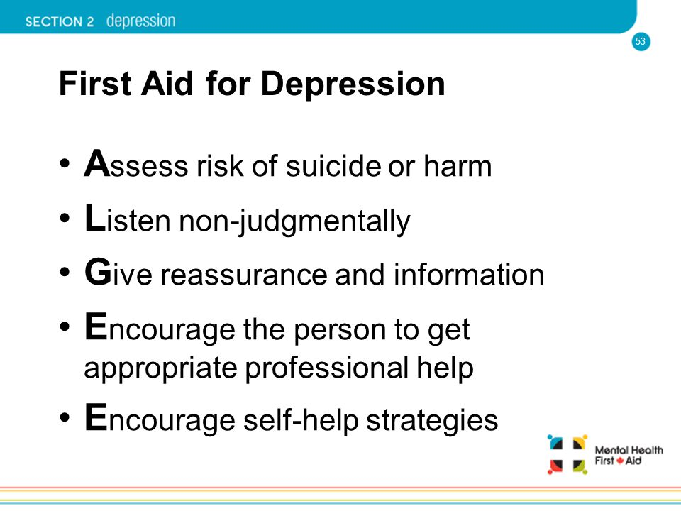 First Aid for Depression
