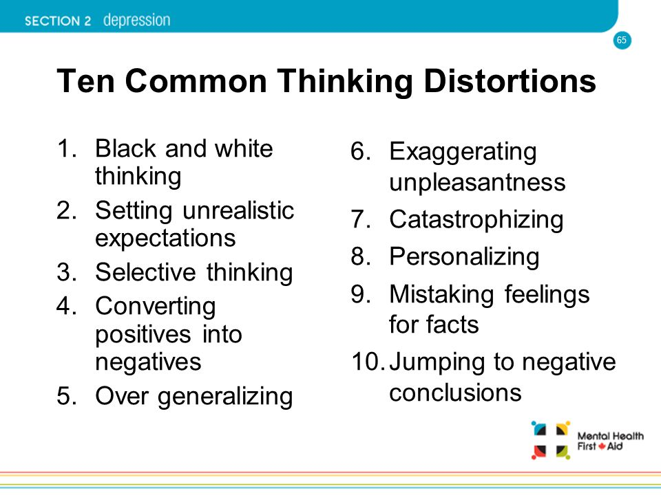 Ten Common Thinking Distortions