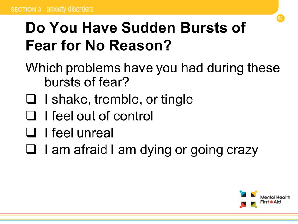 Do You Have Sudden Bursts of Fear for No Reason