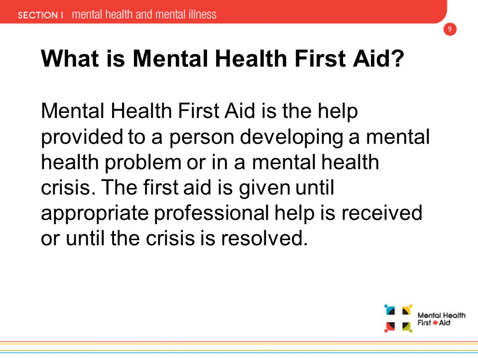 What is Mental Health First Aid