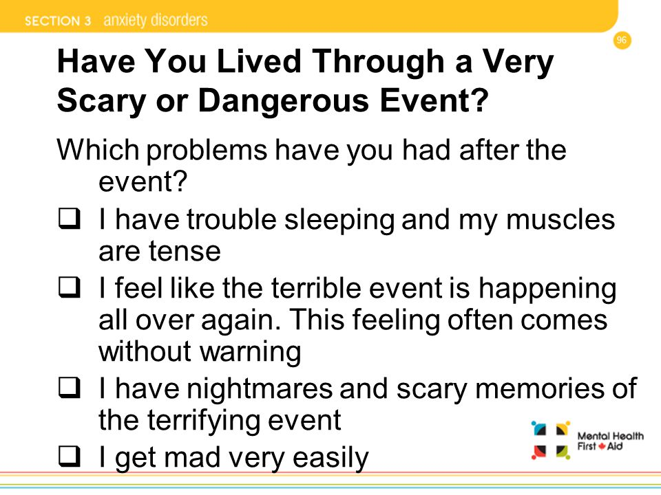 Have You Lived Through a Very Scary or Dangerous Event