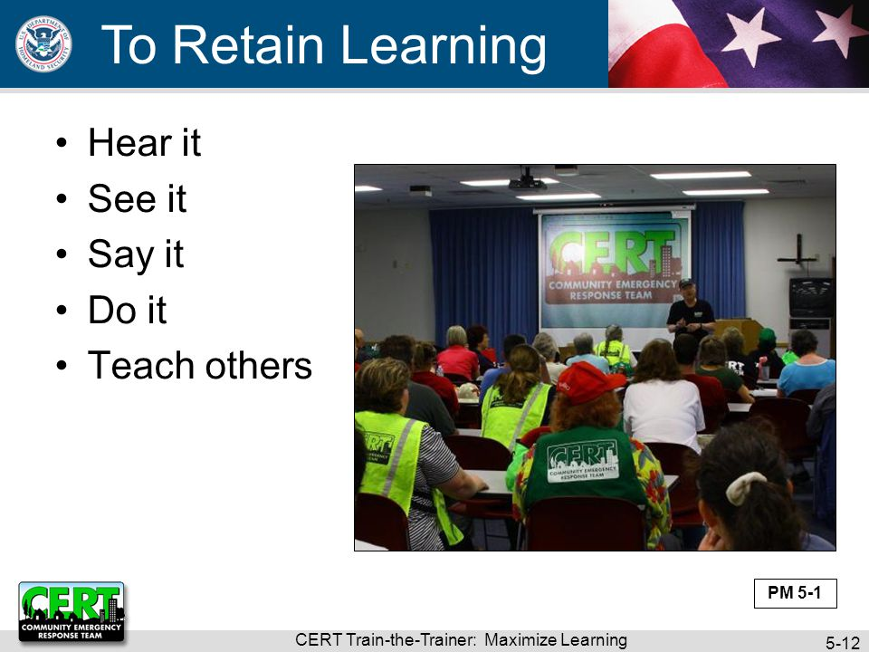 CERT Train-the-Trainer: Maximize Learning